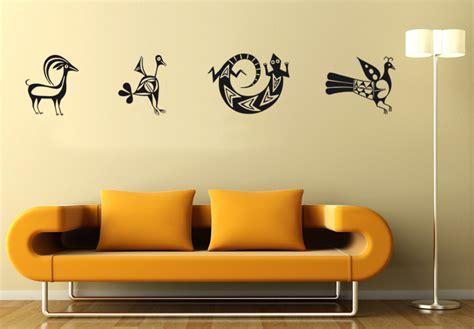 wall 2 wall stickers aztec animals 2 wall sticker wall