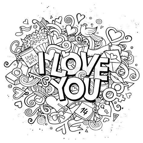 doodle you vector doodle i you illustration
