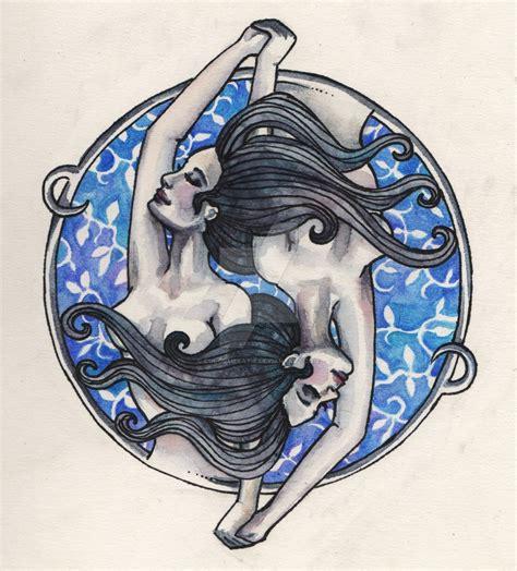 gemini tattoo by colormekatie on deviantart