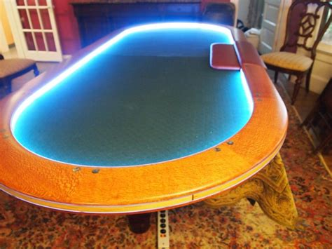 custom lacewood hold em table by willamette bluff