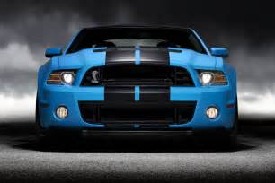 Black Mustang With Grabber Blue Stripes Ford Mustang Shelby Gt500 Photos