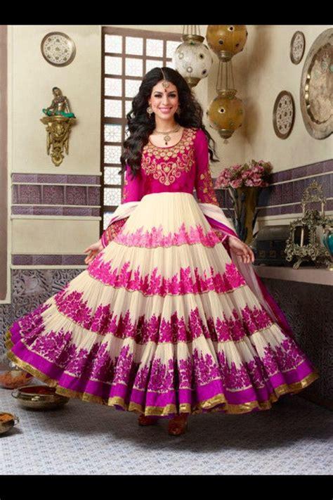 Nisha Moda 01 pink anarkali dressy not my taste description by mahua roy chowdhury anarkali indian