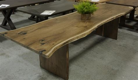 Custom Dining Room Table by Live Edge Tables Lorimer Workshop