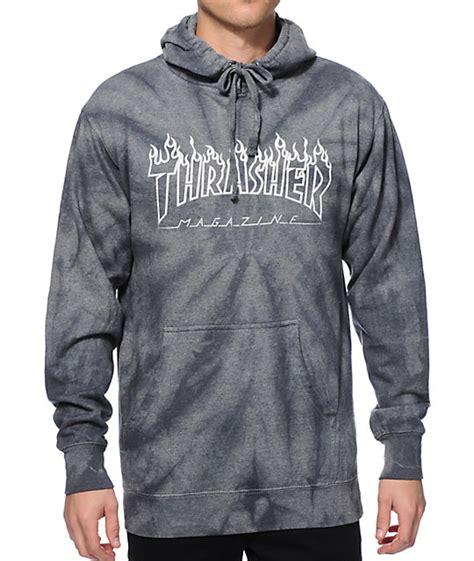 thrasher silver logo tie dye hoodie at zumiez pdp