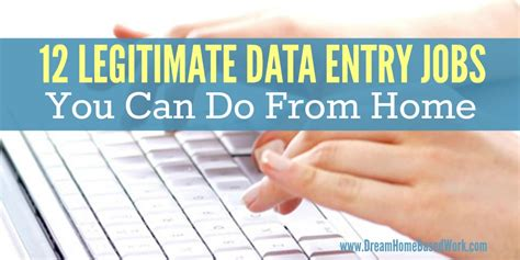 12 genuine data entry you can do from home