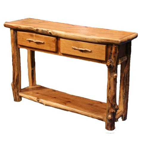 Country Sofa Table by Log Sofa Table Country Western Cabin Rustic Wood Living