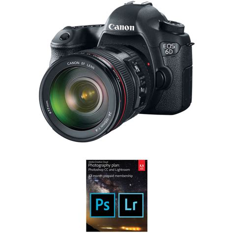 Canon Eos 6d canon eos 6d dslr with 24 105mm f 4l lens and adobe b h
