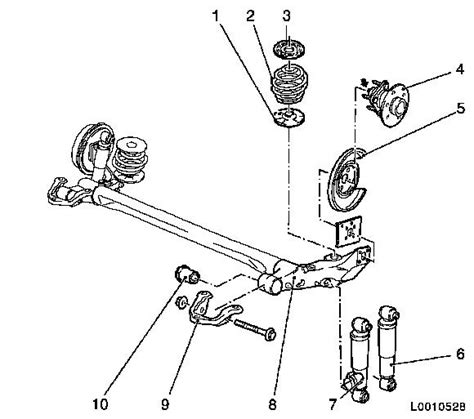 struts layout tags exles vauxhall workshop manuals gt astra h gt f rear axle and rear