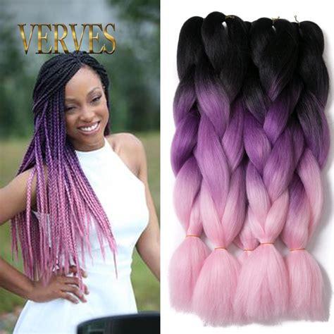 colored kanekalon hair verves ombre kanekalon braiding hair braid synthetic