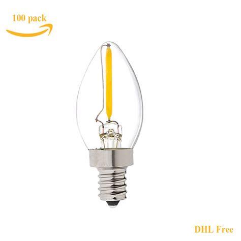 Free Led Light Bulbs Dhl Free C7 Led Light L 0 5w E12 E14 Led Candle Filament Bulb Warm White 2700k Ac110v