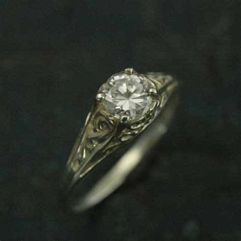 the cinderella ring silver vintage style filigree