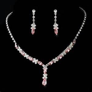 prom jewelry pink bridesmaids or prom jewelry set xxoo