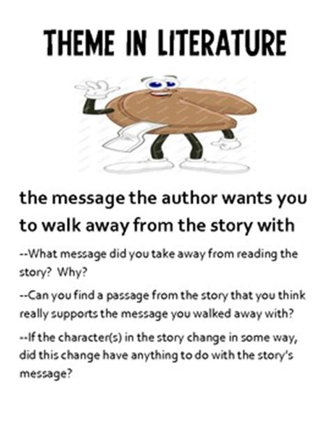 Identifying Themes In Literature | identifying theme in literature by dana hoover s creative