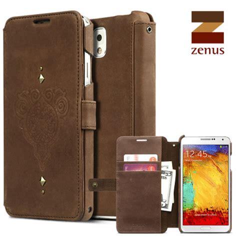 Zenus Retro Vintage Brown Diary Samsung Galaxy Note 3 Genuine Leather zenus retro vintage diary for samsung galaxy note 3