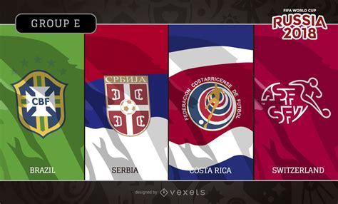 rusia 2018 banderas y logotipos grupo e descargar vector