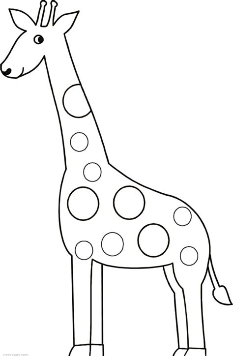 Giraffe Coloring Pages Animal Pictures Giraffe Templates To Print