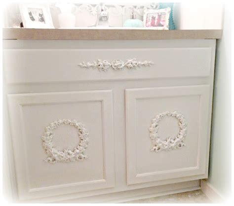 not so shabby shabby chic adding appliques to bathroom