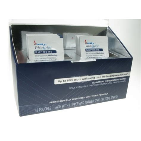crest white strips supreme crest whitestrips supreme professional whitening 10