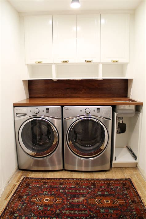 Bathroom Craft Ideas by A Walnut Counter And Backsplash In The Laundry Room