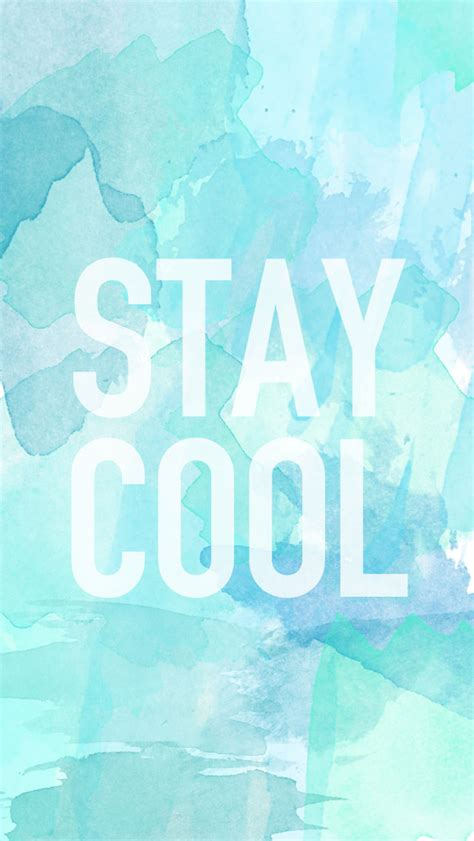 Wallpaper Stay Cool | summer iphone and ipad wallpaper twin stripe blog
