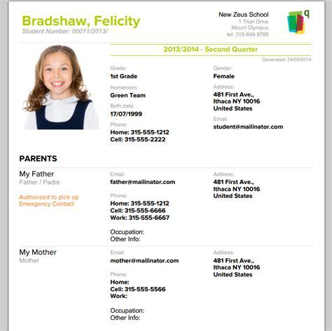 profile template pdf printable student profile school management student