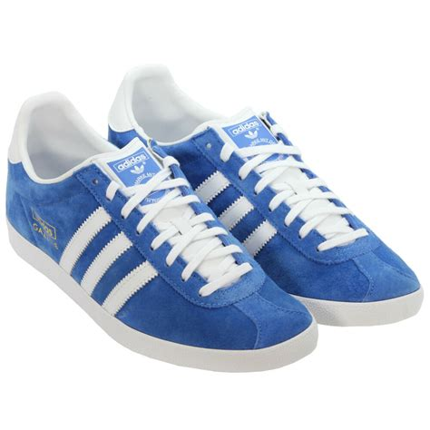 adidas originals gazelle mens suede trainers sneakers shoes blue ebay