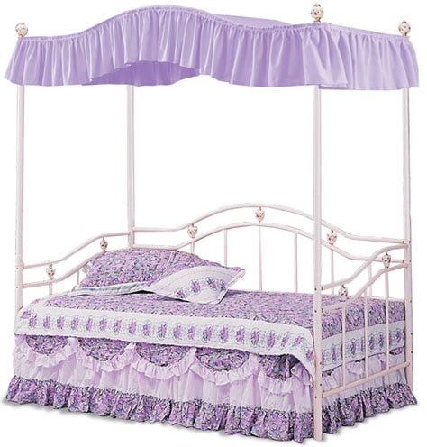 princess size lavender bedroom canopy bed