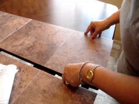 How To Fix Damaged Table Top By Using Stick On Tiles Wmv