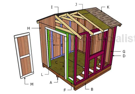 8x8 Storage Shed Plans Free by 1000 Ideas About 8x8 Shed On Wooden Playhouse