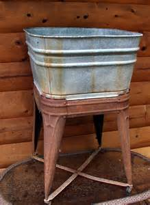 Vintage Galvanized Bathtub Old Galvanized Wash Tub And Stand Straight From The Hill Of