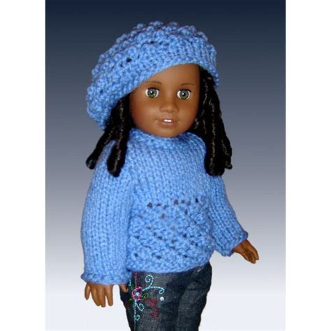 free knitting patterns for dolls hats doll sweater and slouchy hat knitting pattern fits 18