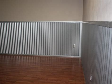 Metal Wainscoting Ideas by Corrugated Metal Roofing As Wainscoting In A Playroom