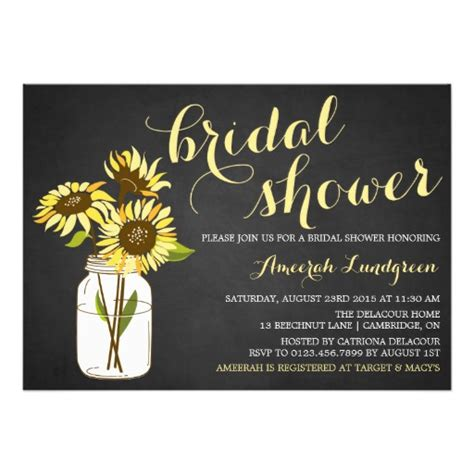 country chic bridal shower invites country chic sunflowers bridal shower invitation card