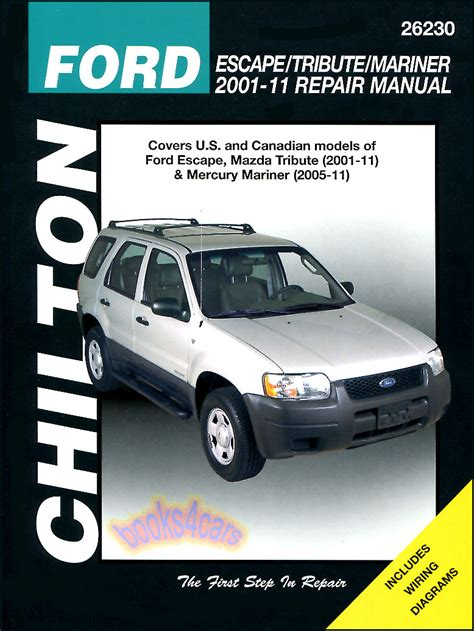 free auto repair manuals 2001 ford escape navigation system shop manual service repair escape tribute mariner book chilton haynes 2001 2011 ebay