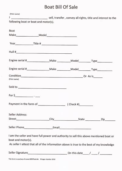 download boat bill of sale form pdf word wikidownload
