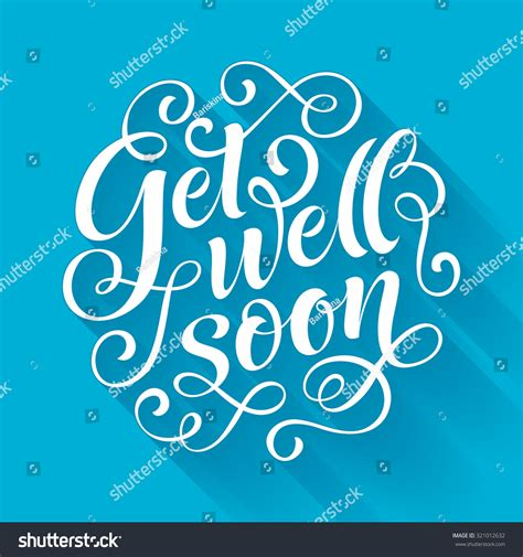 get well soon vector text on stock vector 321012632