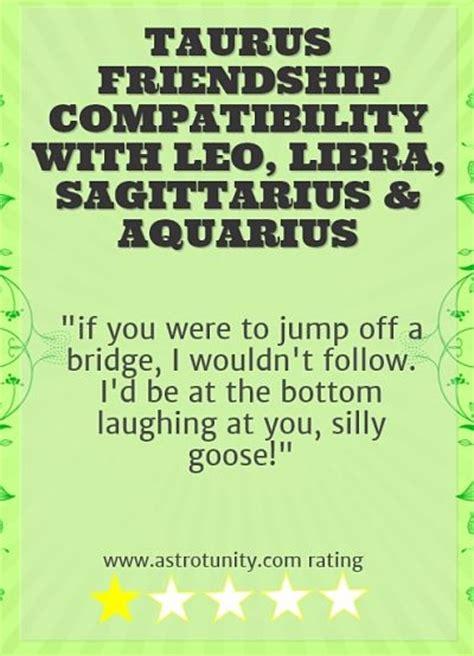 taurus friendship compatibility
