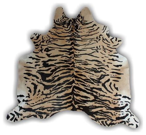 siberian tiger rug siberian tiger hide rug animal print cowhide leather rug eclectic novelty rugs