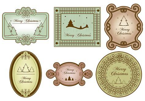 vintage merry christmas label vector pack   vectors clipart graphics vector art