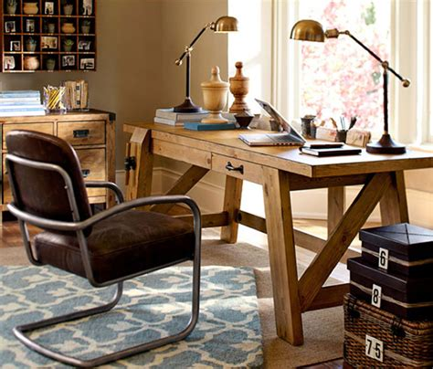 Pottery Barn Office Desk Bench Style Office Desks From Pottery Barn Small And Large