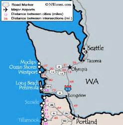 map of coast cities washington coast maps