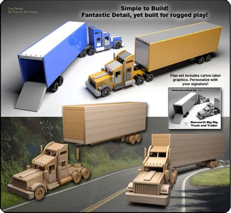 wooden kenworth 308 best images about toy wood trucks on pinterest