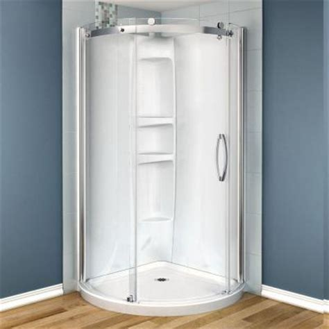 Shower Door Wheels Home Depot by Maax Olympia 36 In X 36 In X 78 In Shower Stall In