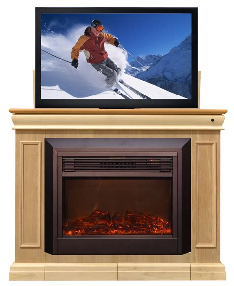 conestoga fireplace tv lift cabinet for flat screen tvs up