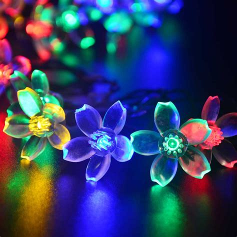 Ledertek Solar Fairy String Lights 21ft 50 Led Multi Color Multi Color Solar Lights
