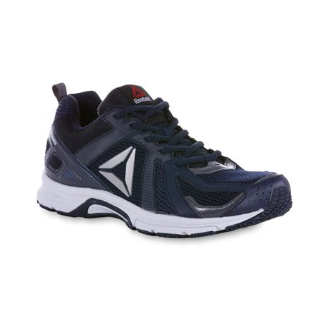 navy blue athletic shoes reebok s runner athletic shoe navy blue white