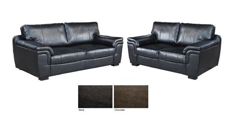 3 2 black leather sofas new 3 2 seater sofa suite brown or black leather homegenies