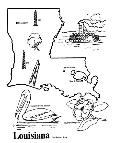 louisiana state outline coloring page happiest place on