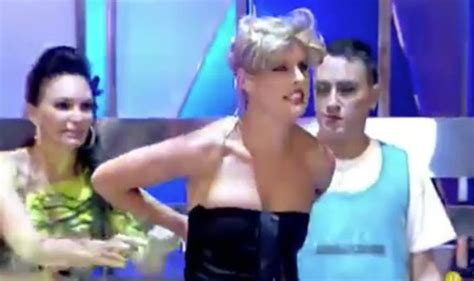 tania llasera wardrobe malfunction presenter flashes breasts after wardrobe malfunction on