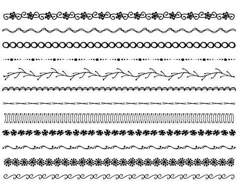 hand drawing pattern photoshop hand drawn borders hand drawn clip art borders black and